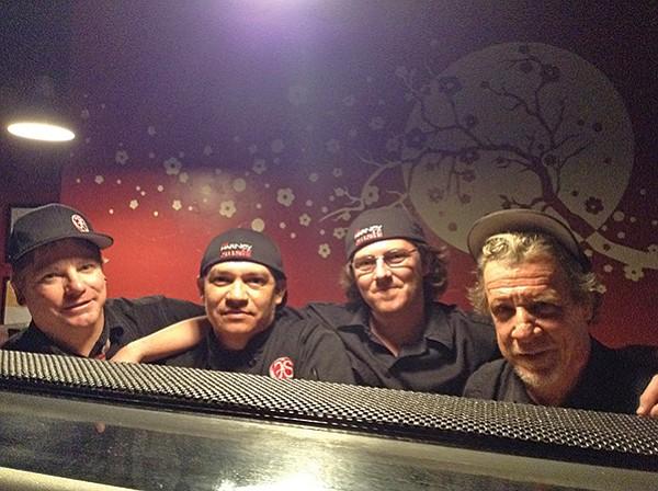 The four sushi amigos: Brian, Josue, John, Terry
