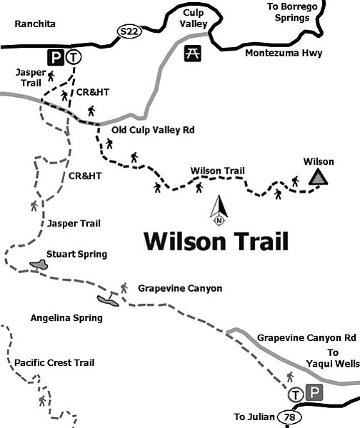 Wilson Trail map