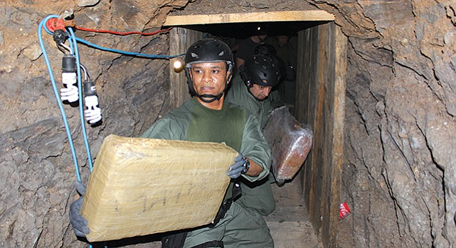 2011 Otay Mesa drug tunnel - Image by Ron Rogers