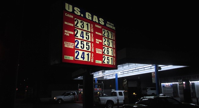 California gas taxes will likely prevent prices from dropping much further.