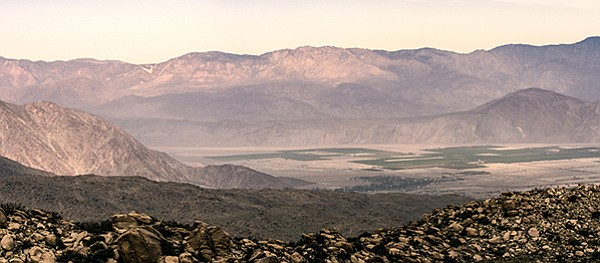 The summit has a sweeping view of Borrego Valley