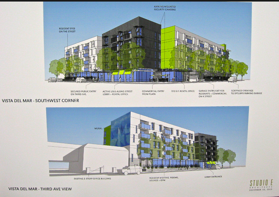 Architect's rendering of Third and K project