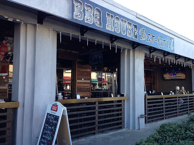 A better look from the street for BBQ House Bar & Grill.