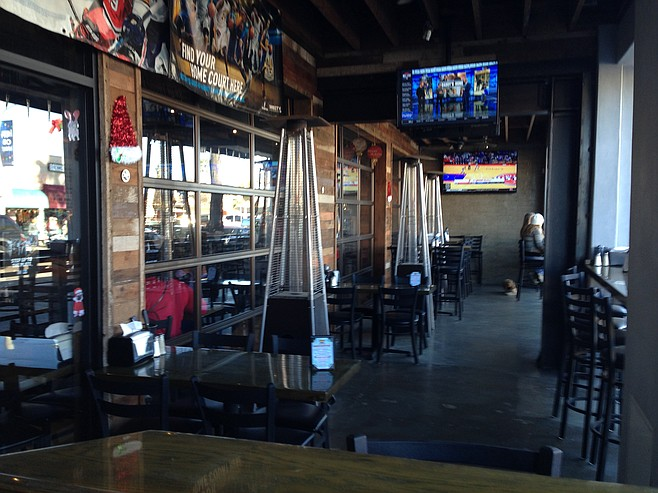 You can even watch sports on the patio.