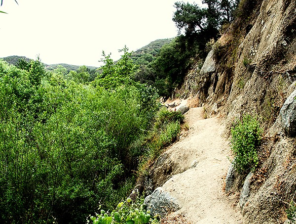 Santa Margarita Trail crosses a cliff