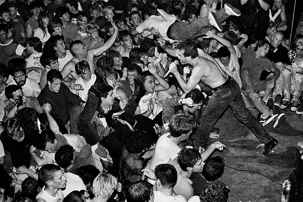 "At a Dead Kennedys show at the California Theatre in the early '80s, ""Four busloads of cops in full riot gear show up and close the place down."""