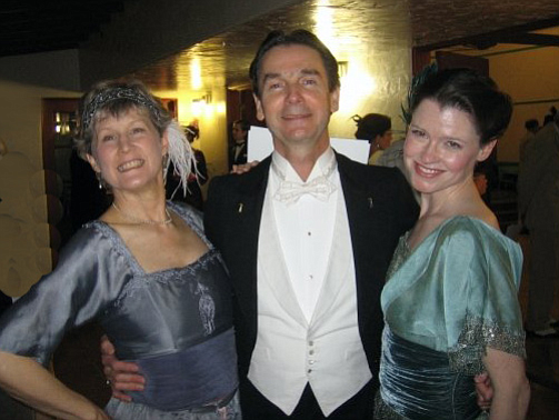 Richard Powers (center) is an internationally known vintage dance historian and teacher.