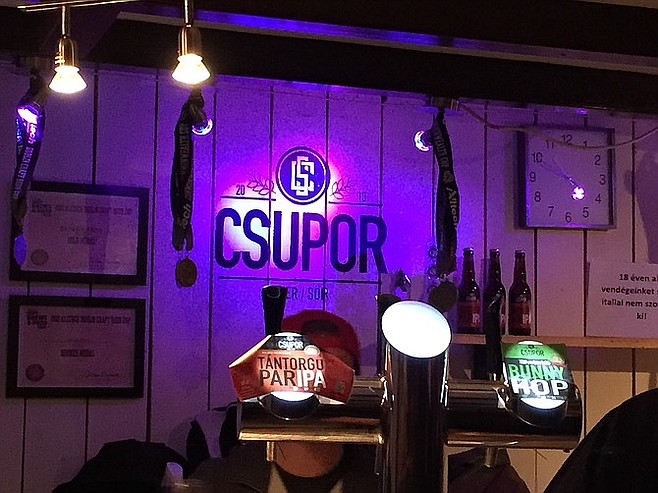 Csupor is a find in a city traditionally not known for its beer.