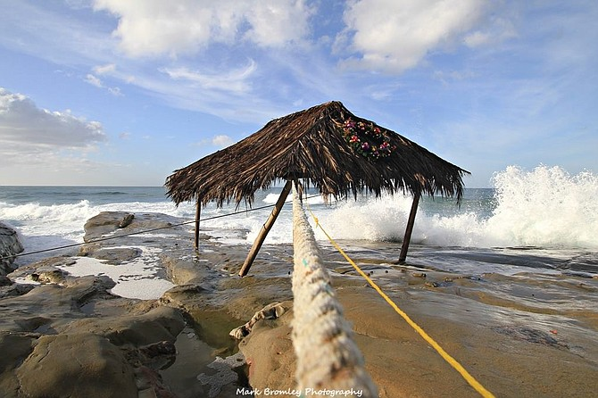 The shack was tied to an agave plant...saved it from getting washed into sea