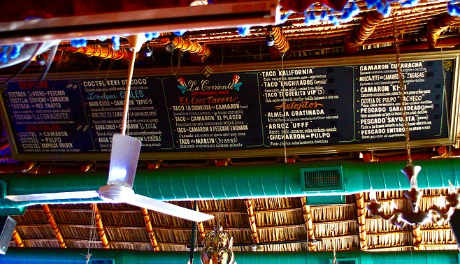 Forgot the menu? Just look up at the ceiling!
