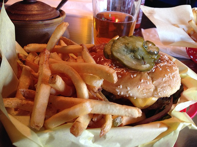 The classic — and only — meal offered at Rocky's Crown Pub