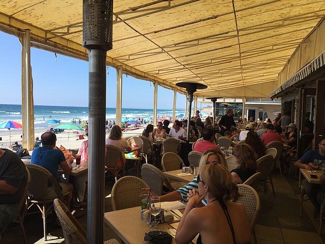 The patio at Poseidon in Del Mar