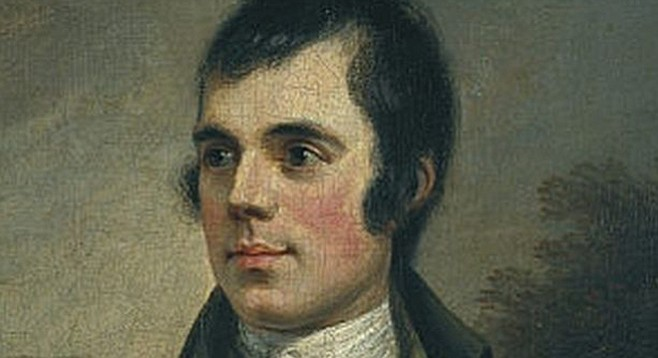 Robert Burns, regarded in Scotland with the same reverence as Shakespeare in England
