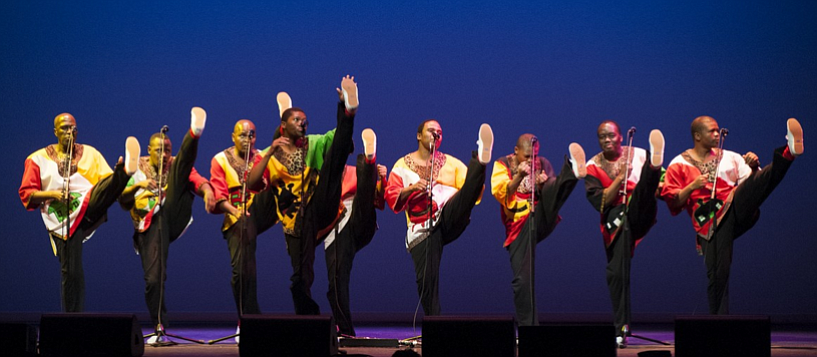 Multiple Grammy-winning choral group Ladysmith Black Mambazo takes the stage at Belly Up on Tuesday.