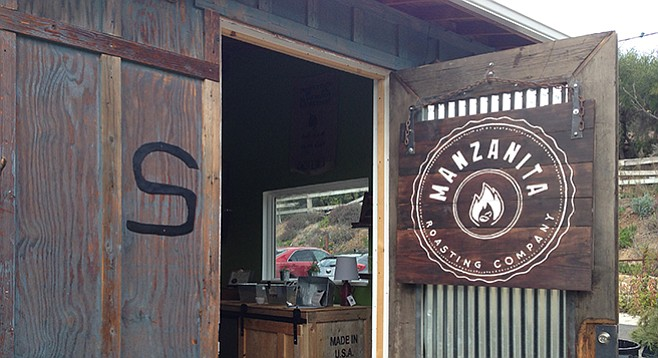 Manzanita Roasting Company opened within the rustic shopping village of the 125-year-old Bernardo Winery.