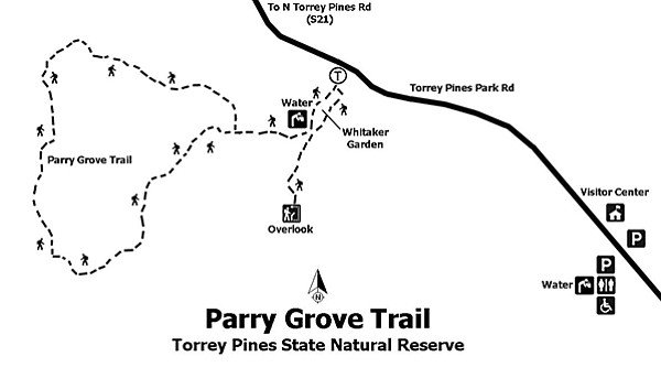 Parry Grove trail map