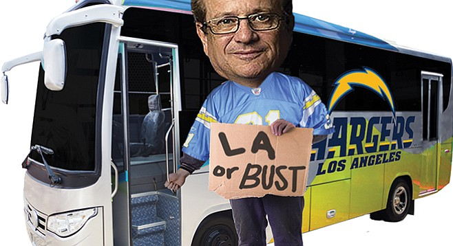 Dean Spanos has been served up heaps of disdain lately by the Union-Tribune.
