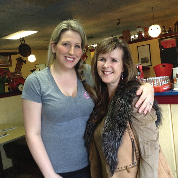 Waitress Kendra and owner Brenda