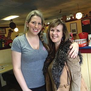 Waitress Kendra and owner Brenda
