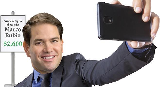 Florida GOP presidential candidate Rubio is a big favorite among wealthy San Diegans.