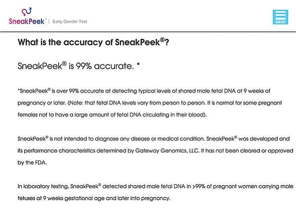 From sneakpeektest.com's FAQs page