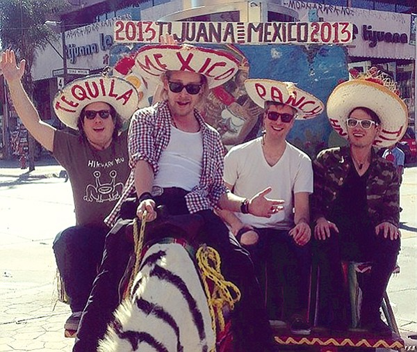 Macaulay Culkin with friends and zonkey in his visit from a couple years ago