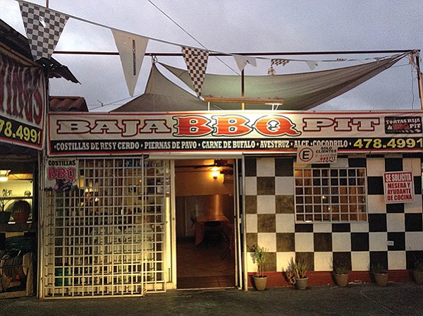 Entrance to Baja BBQ Pit