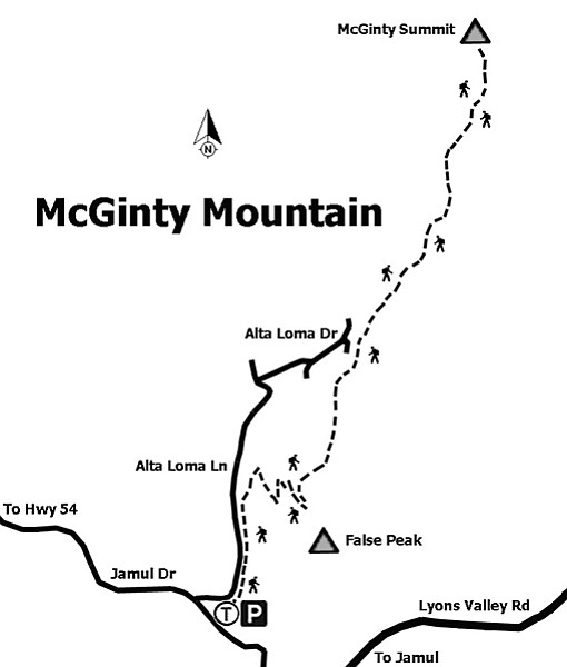 Trail to McGinty Summit