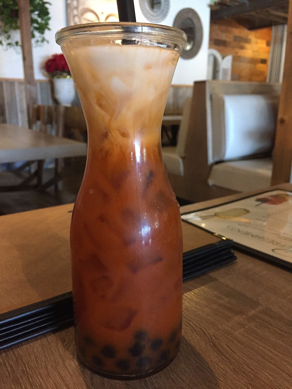 Thai Iced Tea, complete with boba