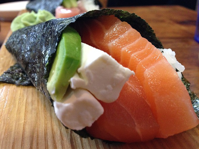The Philadelphia Hand Roll. Throw some soy sauce in there and nosh it like lox and schmear.