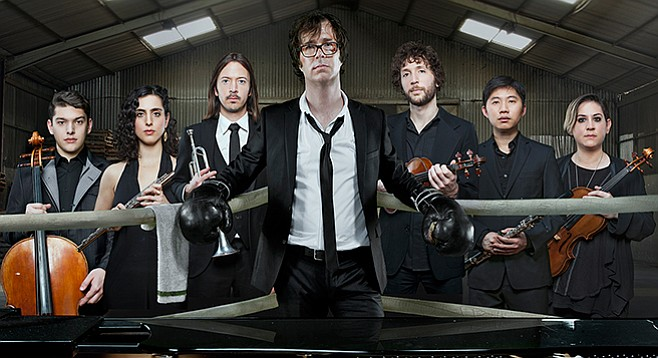 Pop-rock pianist Folds goes toe-to toe with his inner composer. He will perform his new concertos February 5 (Escondido) and 6 (downtown).