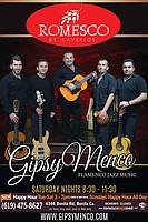 Spice up your Saturday at Romesco! for an evening of live Flamenco music in the Tapas Bar! Gipsymenco will be playing the newest music revolution, where flamenco and jazz meet!