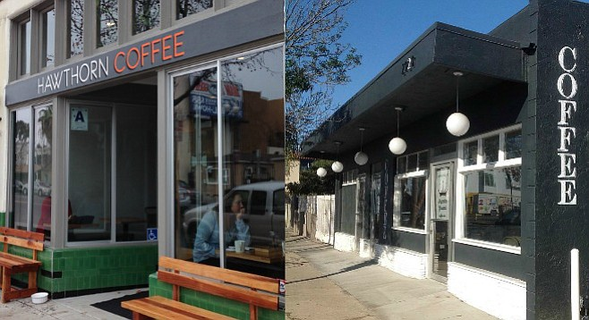 Two new coffee businesses recently opened on 30th Street; one has waiting competition, the other, a McDonald's.