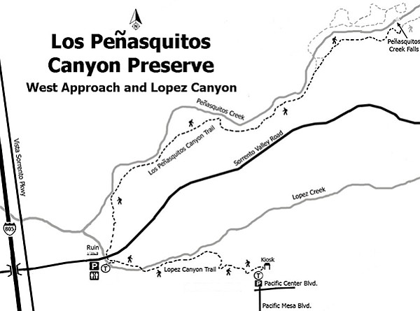 LOS PEÑASQUITOS CANYON WEST APPROACH