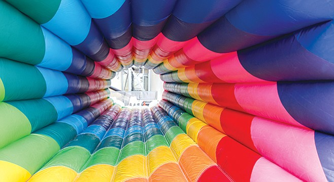 Climb into a rainbow at the New Children's Museum