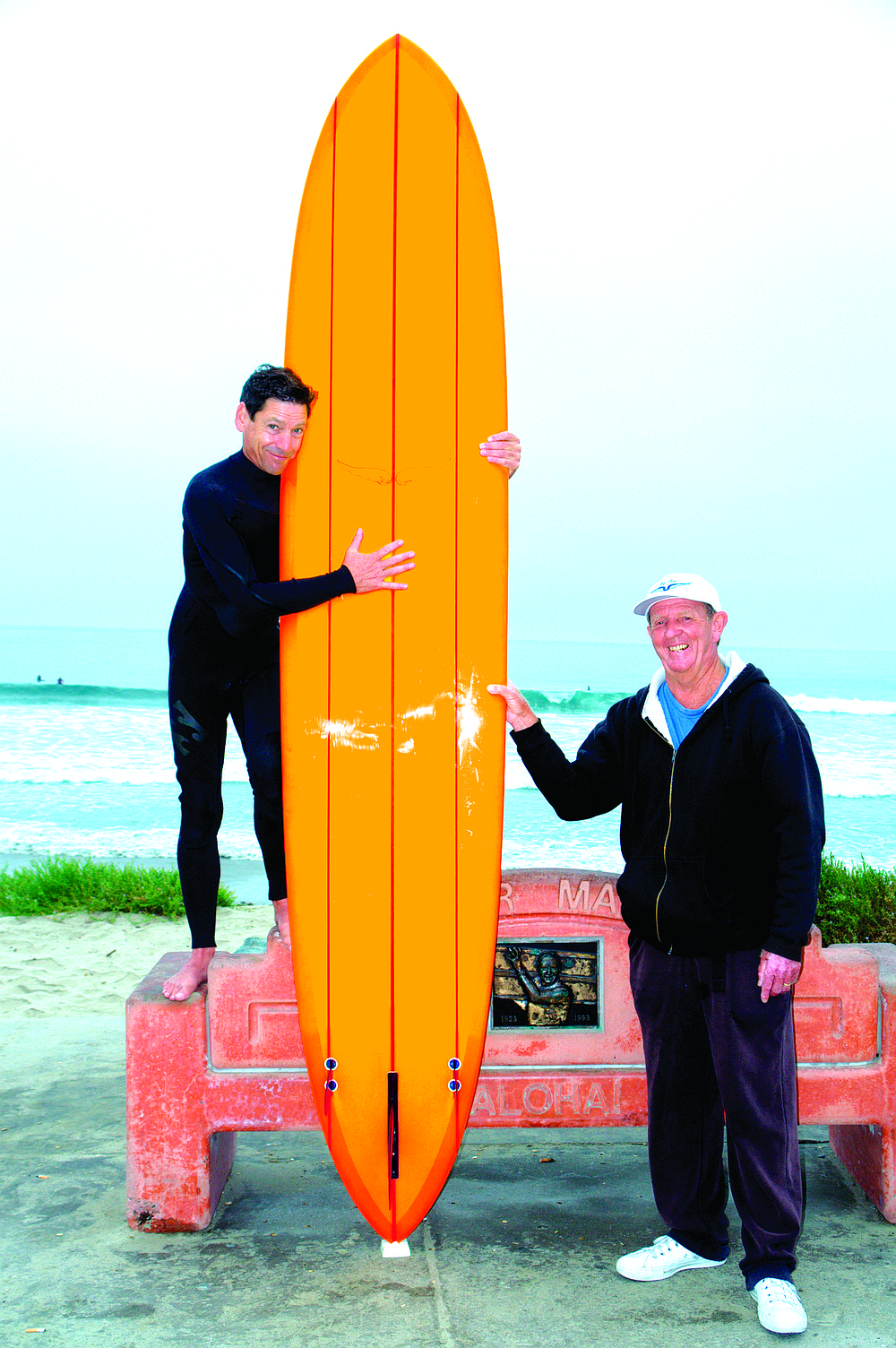 Goltz (author) and Frye with Goltz's new board. One of the most important things about surfing is looking cool. By now, you've probably picked up that surfing on a Skip Frye–shaped surfboard at Tourmaline is pretty cool.