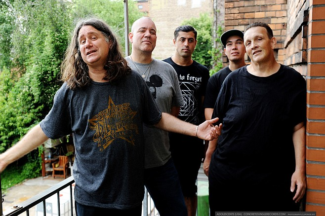 Southern California's punk-rock supergroup the Adolescents will spin a pit at Casbah on Saturday!
