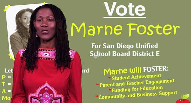 One of Marne Foster's campaign selling points was that she's a parent.