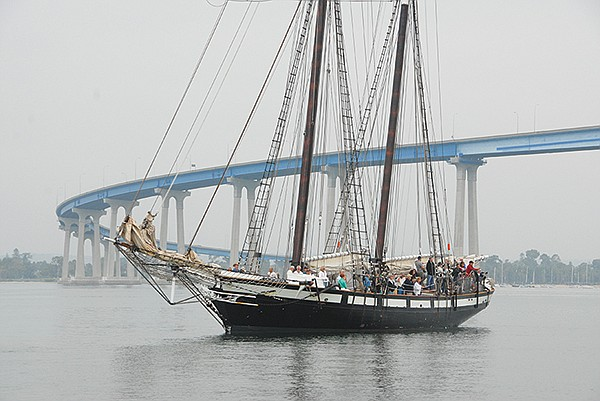 A sail on the tall ship Californian, a replica of an 1812 vessel, will fill the soul of my sea-loving hubby.