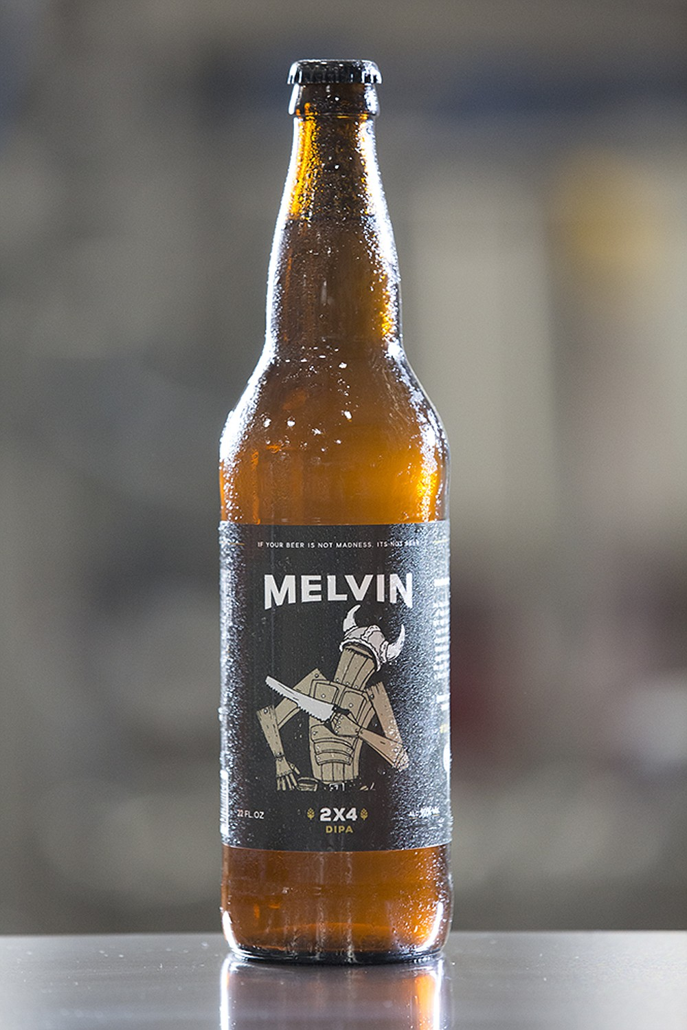 "Juicy, resinous and a deceptively drinkable 10% ABV, 2x4 parades what Melvin's own brash tasting notes describe as the ""Mad floral, citrusy, and clean taste of hop talent."""