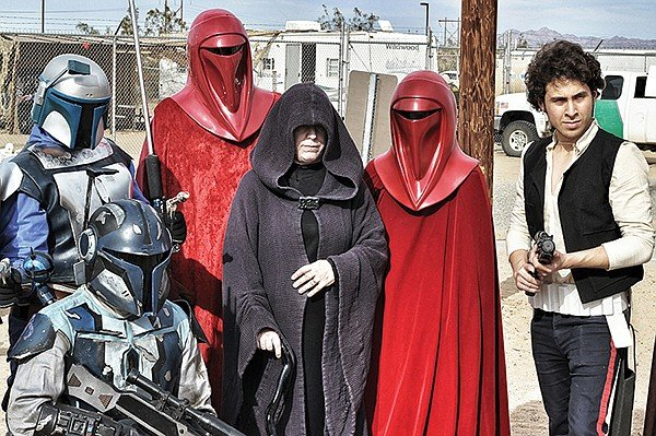 Cosplayers from as far as Phoenix and San Diego converged on the dunes of Buttercup Valley.
