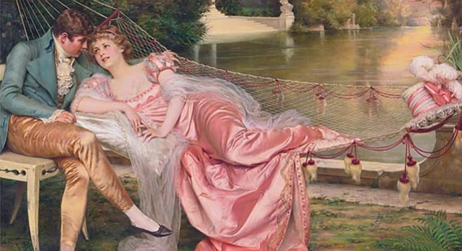 Eve and Patrick Kelly enjoy a little romance