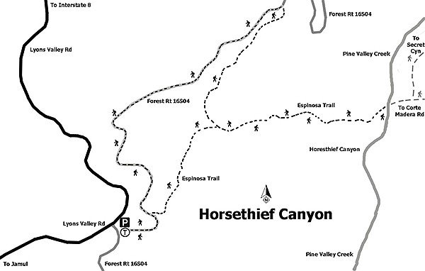 Ain't no water in Horsethief Canyon, but poison oak? You