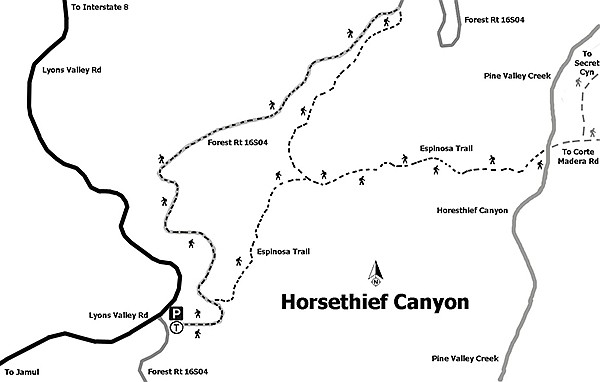 Horsethief Canyon trail map