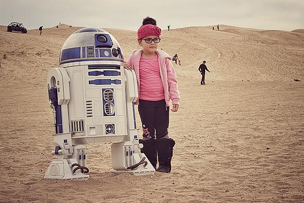 Expectation: Burning Man. Reality: Chillin' children
