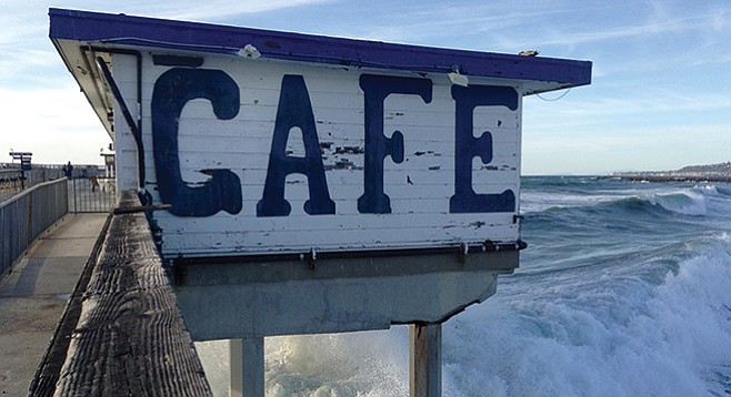 Not For The Faint Hearted Wow Café On A Stormy Day Imperial Beach Tin Fork
