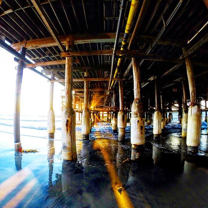 Sunset Rays, Pier days.