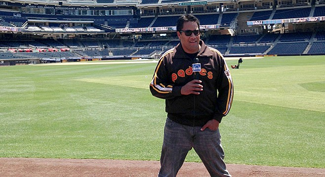 Daye Salani on location at Petco Park for SoundDiego