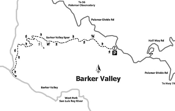 Map of Barker Valley