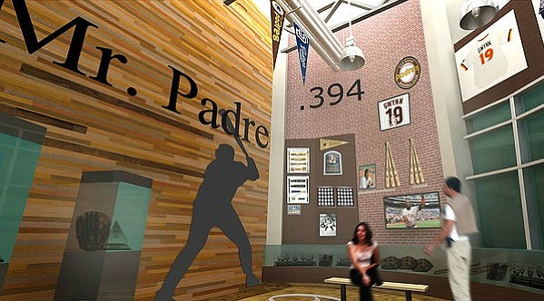Artist rendering of the Tony Gwynn Museum to be housed within the AleSmith brewery's tasting room.